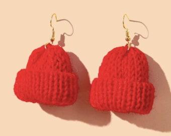 Christmas Hat Drop Earrings