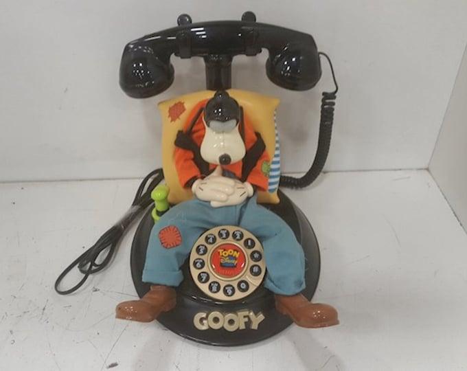 Vintage Telemania Walt Disney Goofy Telephone