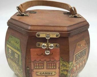Vintage Wooden Purse