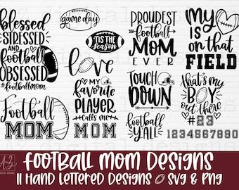 Football Mom svg bundle hand lettered | football svg | football mama svg football shirt svg | football team svg | sports svg | game day svg