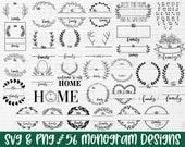 Family name monogram svg bundle monogram svg split monogram svg wedding monogram svg family svg family name svg last name svg png