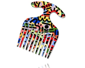 Hair Pick, Detangling Comb - Beautiful Hair Styling Comb, Both Side Designed