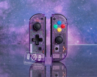 NINTENDO SWITCH Controllers Custom Joy-Con Clear Atomic Purple with D-pad