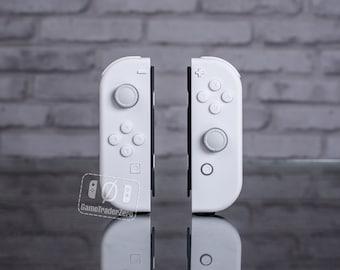 CUSTOM Nintendo Switch JOY-CON Controllers White On White
