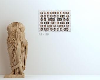 Print (24x36in) Roman Emperors - The Principate