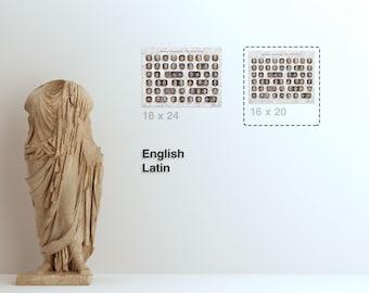 Print (16x20) Roman Emperors - The Principate - Choose Language