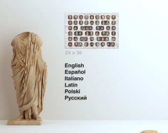 Print (24x36in) Roman Emperors - The Principate - Choose Language