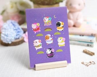 Postcard Art Print (3 designs) | Wall Decor | Cute Art Print | Kawaii Print | Animal Print | Aesthetic Art Print | Wall Art | Home Decor
