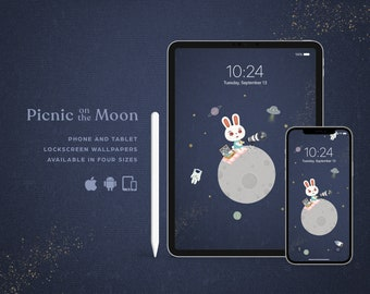 Picnic on the Moon • Lock screen wallpaper for multi devices!