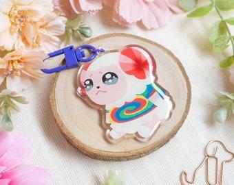 Acrylic Keychain • Dom's Bad Day | Acrylic Charm | Cute Keychain | Kawaii Accessories | Sheep Keychain | Epoxy Keychain