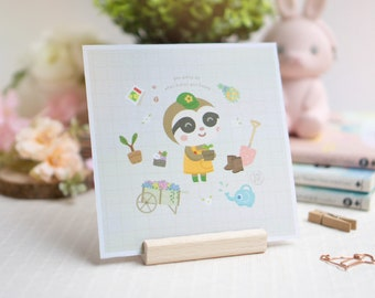 Square Art Print (6 designs) | Wall Decor | Cute Art Print | Kawaii Print | Animal Art Print | Aesthetic Art Print | Wall Art | Home Decor