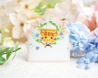 Glitter Sticker • A Nice Surprise | Cute Sticker | Die-cut Sticker | Kawaii Laptop Decal | Matte Vinyl | Planner Sticker | Bujo | Aesthetic