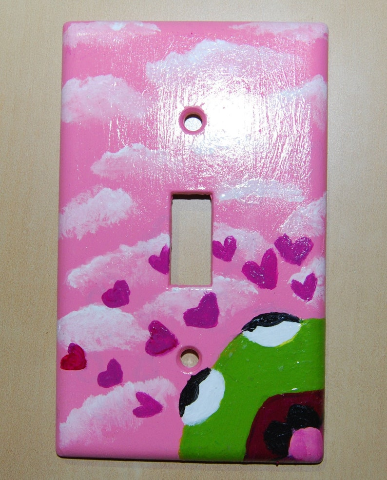 Kermet The Frog; Hand-Painted Light Switch Plate