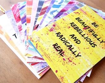 Set of 15 x A6 Affirmation Postcards