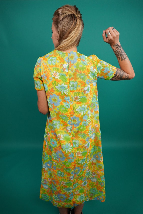 60s Vintage Psychedelic Maxi Dress, Psychedelic M… - image 8