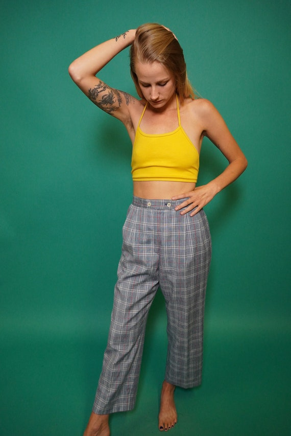 Plaid Pants, Pendleton Pants, Vintage Plaid Pants,