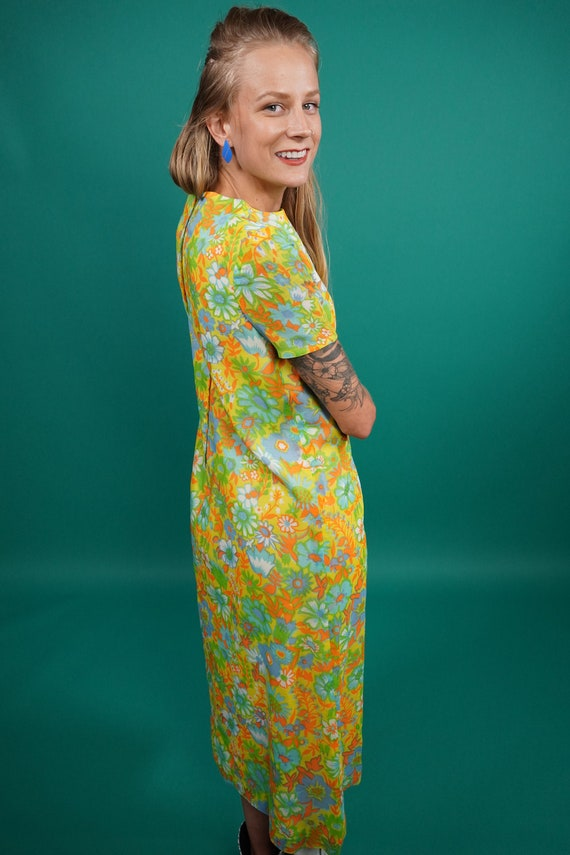 60s Vintage Psychedelic Maxi Dress, Psychedelic M… - image 3