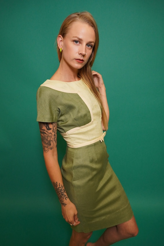 50s Mod Mini Dress, 50s Dress, Pencil Dress, Mod D
