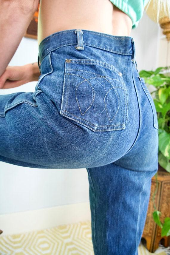 1970s Landlubber Jeans 70s High Waisted Medium Was