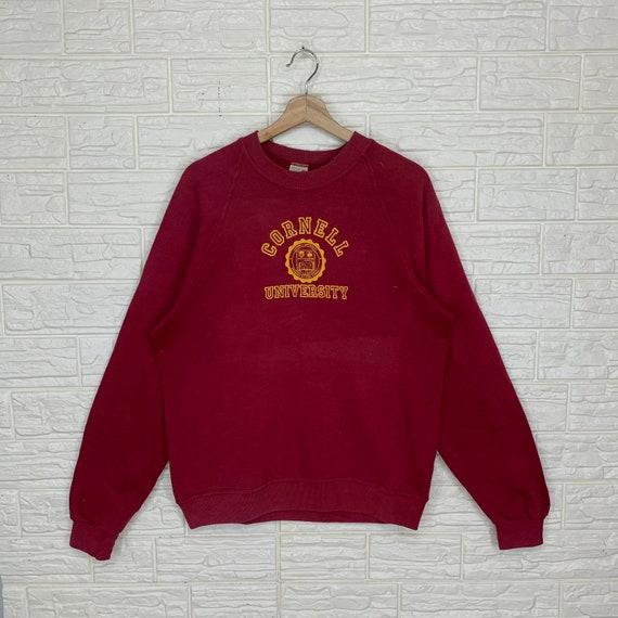 Vintage Cornell University Sweatshirt Crewneck Pul