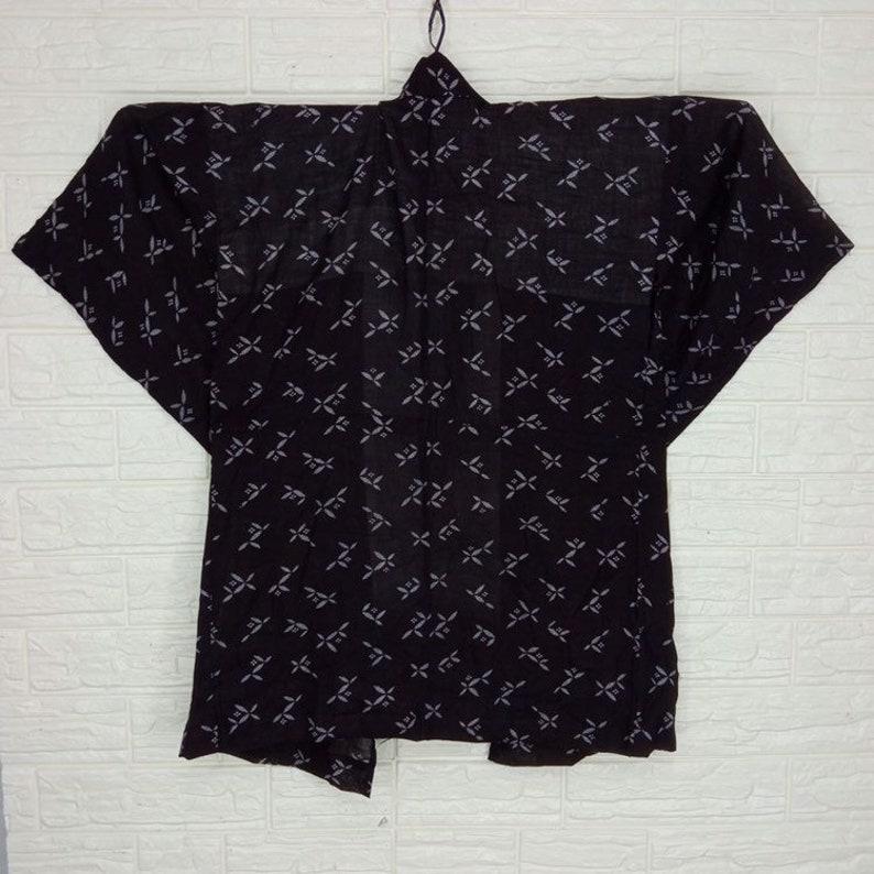 Vintage kimono noragi haori Hanten Jinbei Japanese traditional L Size