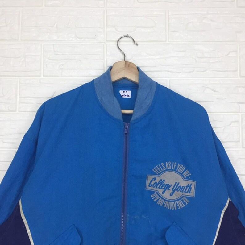 Vintage College Youth Zipper Jacket XL Size Rare Design