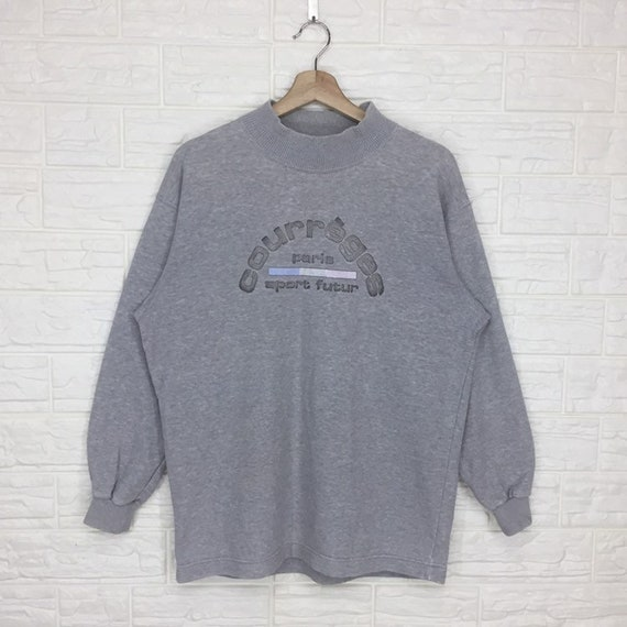 Vintage Courreges Paris sweatshirt Crewneck Pullov
