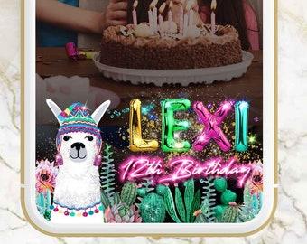 Llama filter,llama snapchat filter,Llama Baby Shower,llama birthday,Baby Shower Filter,Fiesta filter,Fiesta snapchat,Cactus snapchat,