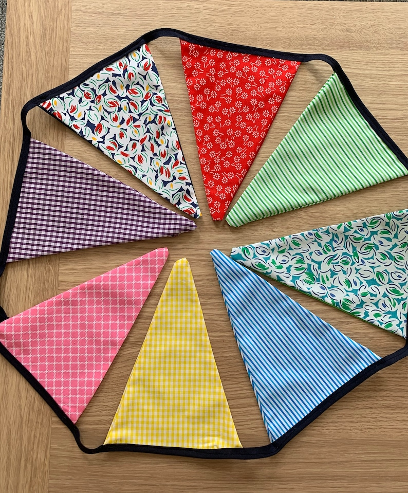 Flag Bunting Garden Parties Beach Huts in a range of amazing fabrics
