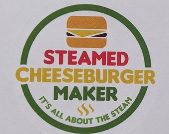 Steamed Cheeseburger Maker Sticker Sampler