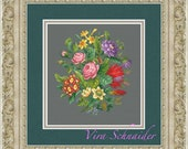 Antique bouquet - 2 - pattern for cross-stitch in PDF format