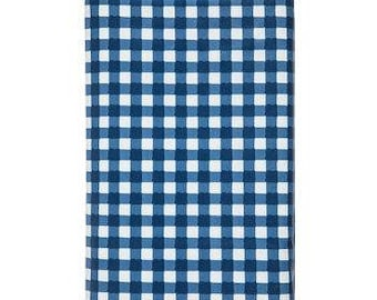 Buffalo Check Tablecloth Blue Gingham Cotton Sateen Tablecloth by Spoonflower Blue Buffalo Check by christineweenk