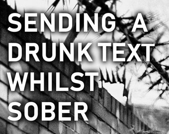 Sending A Drunk Text Whilst Sober by Simon Widdop - Paperback Poetry Collection