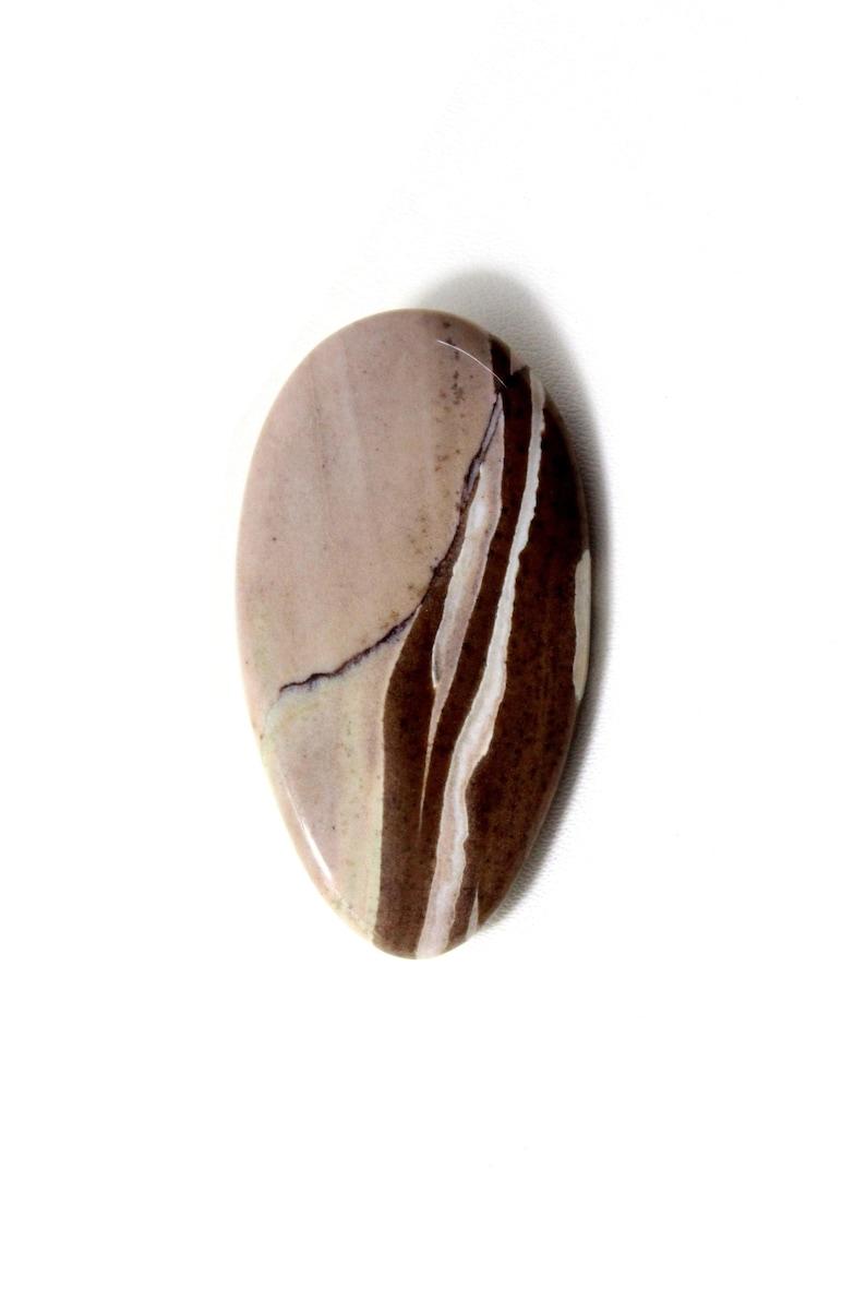 Beautiful Quality Loose Coffee jasper Cabochon Gemstone Size 41x22x3 MM. 34.90 Crt