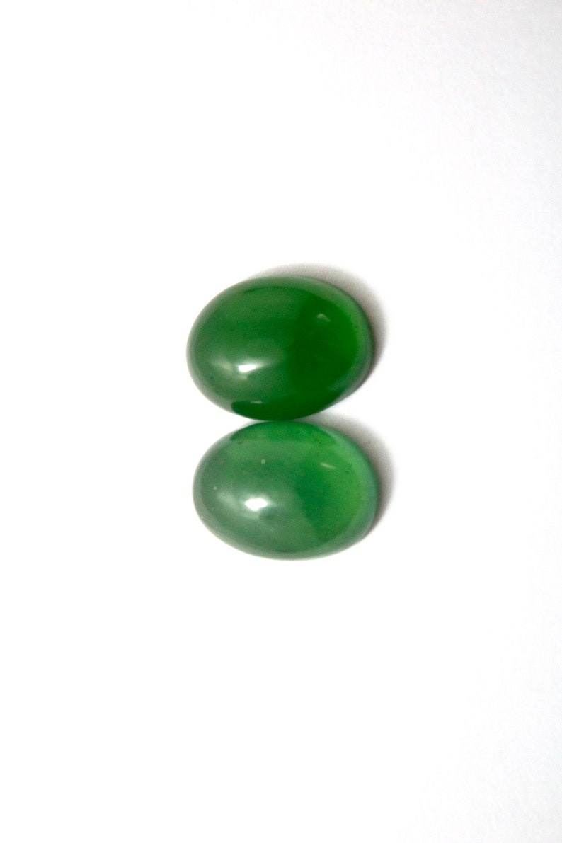 2 Pieces Serpantine cabochon Loose gemstone Jewelry Making 15 MM Size 15.10 Crt.