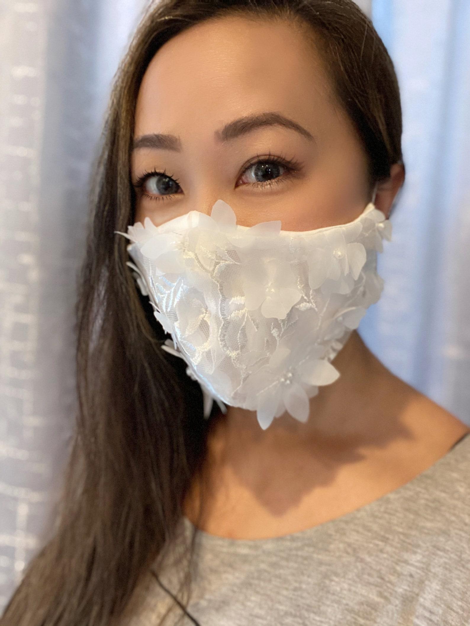 Brautmaske mit 3D Spitze