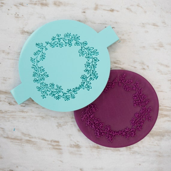 Ditsy Wreath Biscuit Cookie POPup Embosser Stamp Fondant Cake Decorating Icing
