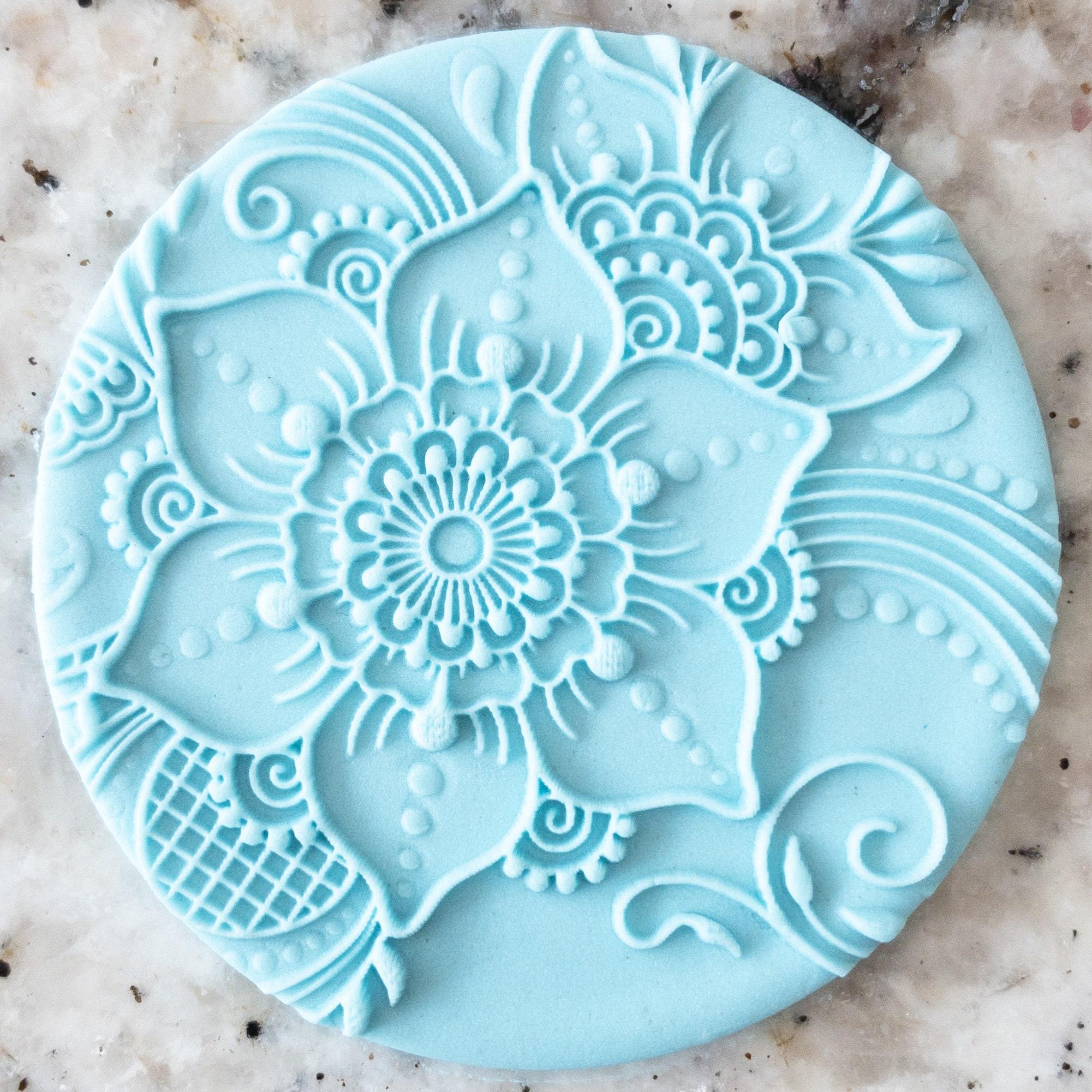 Henna Pattern 1 Biscuit Cookie POPup Embosser Stamp Fondant Cake Decorating Icing Mehndi Indian Wedding Diwali