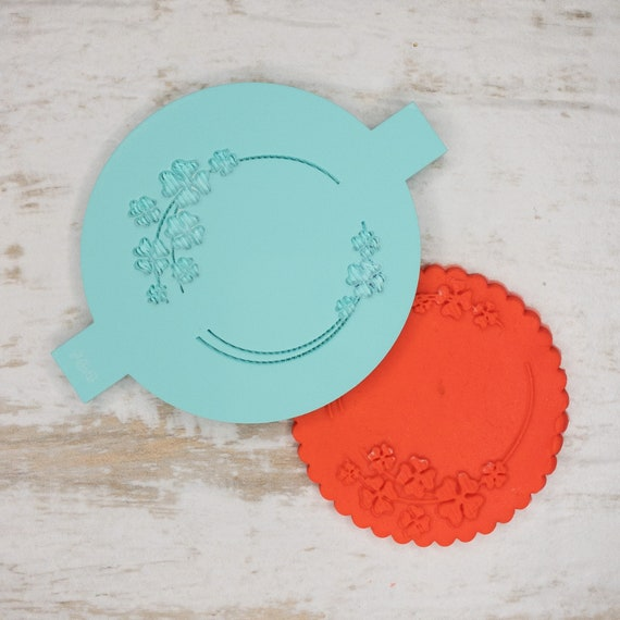 Four Leaf Biscuit Cookie POPup Embosser Stamp Fondant Cake Decorating Icing
