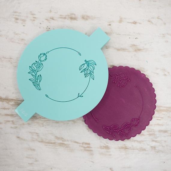 Rose Link Biscuit Cookie POPup Embosser Stamp Fondant Cake Decorating Icing