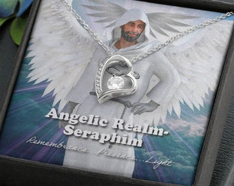 Seraphim-Angelic Realms -Forever Love Heart Necklace
