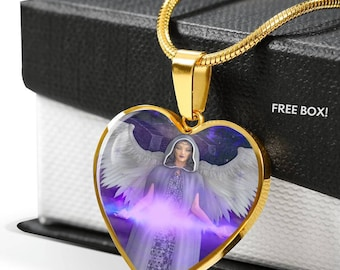 Angel of Acceptance Heart Pendant