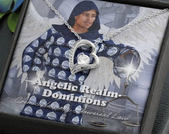 Dominions -Angelic Realms -Forever Love Heart Necklace