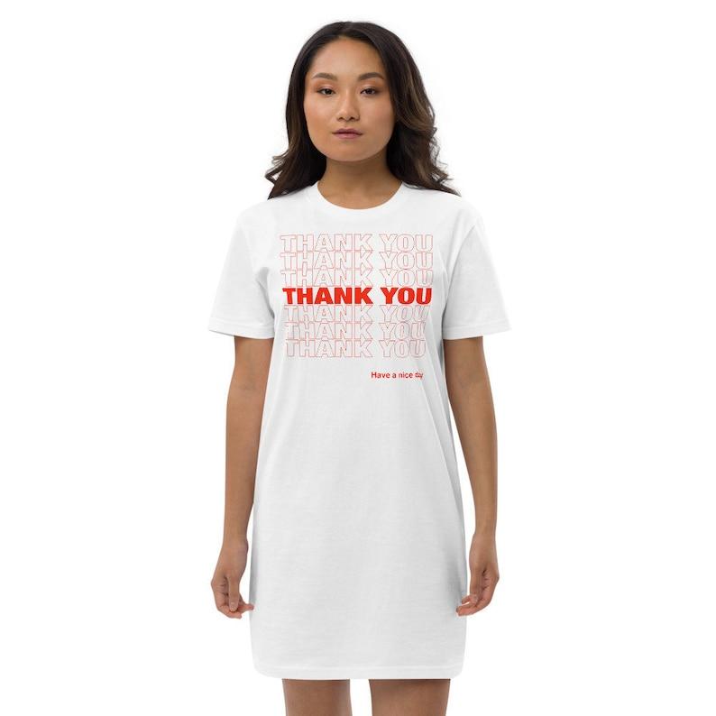 Thank You T-Shirt Dress