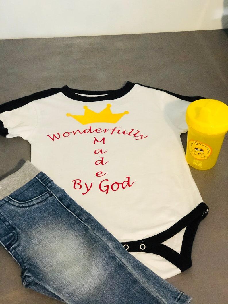 Wonderfully made by god crown onesie