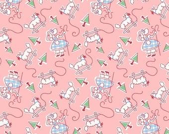 Vintage Style NURSERY RHYME Fabric ~ Little Bo Peep ~ Pink Background ~ BTY