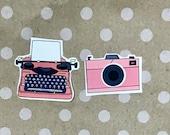 Typewriter and camera sticker pack