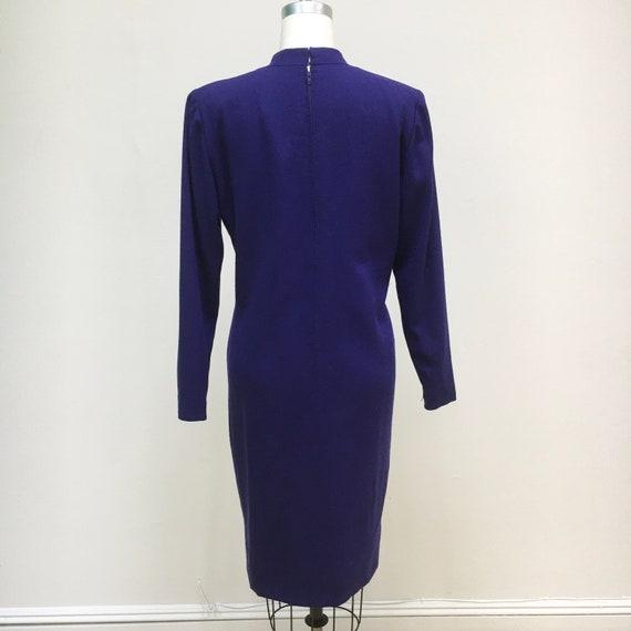 Sz. 10 1960's Pauline Trigère Wool Dress - image 6