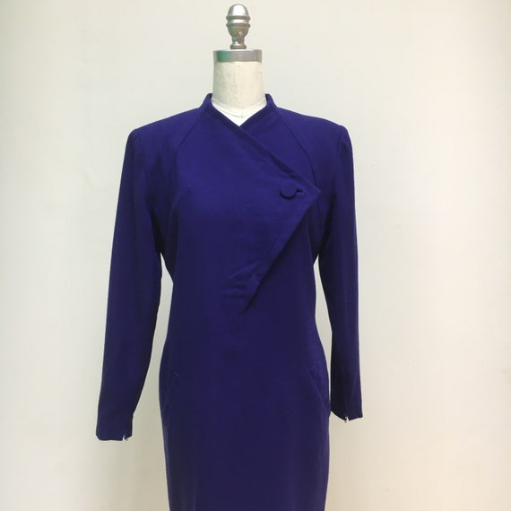 Sz. 10 1960's Pauline Trigère Wool Dress - image 4