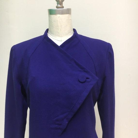 Sz. 10 1960's Pauline Trigère Wool Dress - image 5